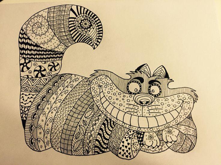 Zentangle cheshire cat