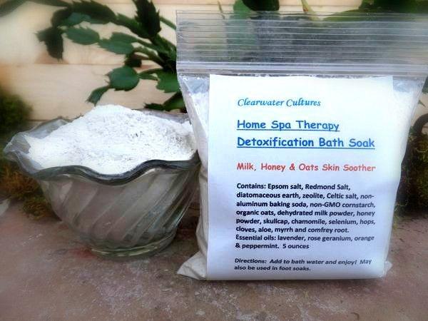 Milk, Honey & Oats Bath Soak, Home Spa Therapy