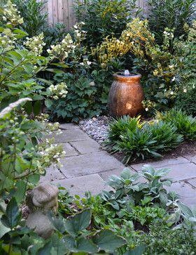 Romantic Townhouse Garden - traditional - patio - dc metro - Mary Kirk Menefee, Landscape Designer