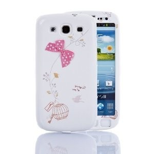 Cute Bow Series White / Pink Full Body Case Cover for Samsung Galaxy s3