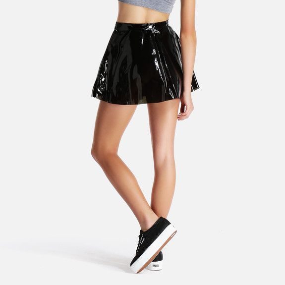 American Apparel - Clear PVC Circle Skirt