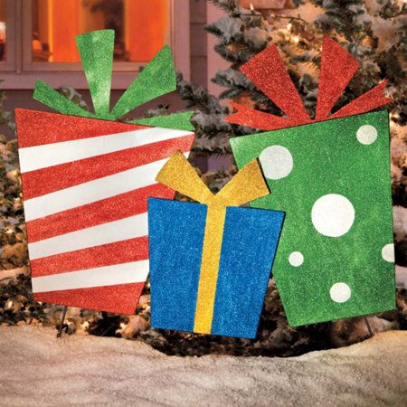 Christmas Presents Trio Outdoor Christmas Decoration
