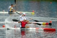 dam Van Koeverden of Canada competes during the Men's Kayak Single (K1) 1000m Canoe Sprint Finals on Day 12 of the London 2012 Olympic Games at Eton Dorney on August 8, 2012 in Windsor, England. Van Koeverden captured a silver medal in the event