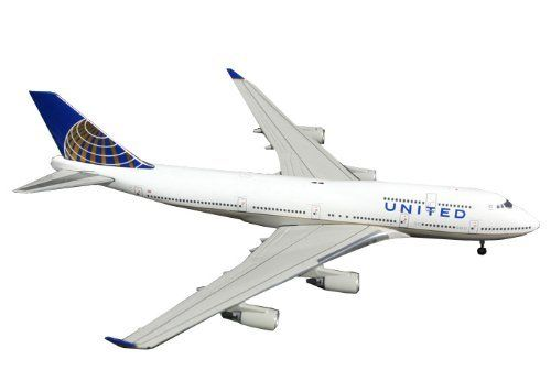 Gemini Jets United B747-400 Post Merger Livery, 1:400 Scale by Gemini Jets. Save 22 Off!. $35.70. Authentic airplane replica. Realistic scale metal landing gear. Limited edition. Detailed computer generated graphics. Highly collectable. From the Manufacturer                Welcome to the exciting world of GeminiJets. Our 1:400 scale range of scale diecast metal airliner replicas represent the world's airlines both past and present. Our models are highly collectible and are all lim...