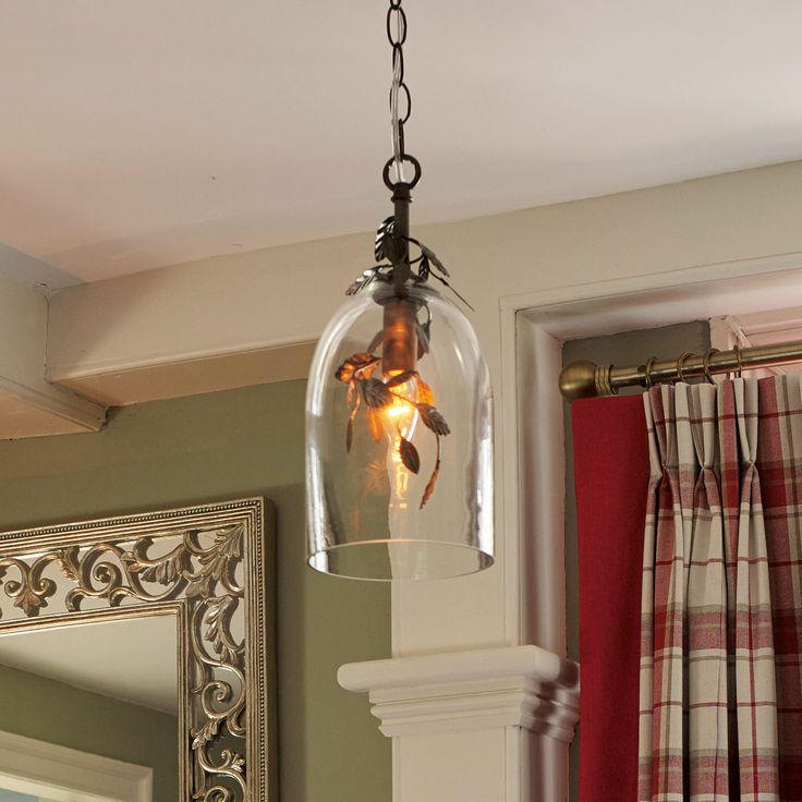 Laura Ashley Wisteria Glass Shade Pendant Light