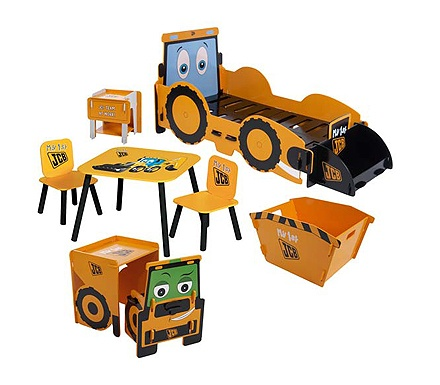 cute idea....Kids Klub JCB Digger Bedroom Set with First Bed