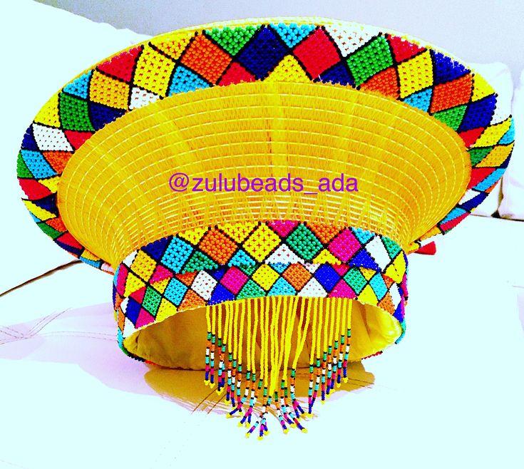 African hats basket hat from Zulubeads Zulubeads.etsy.com