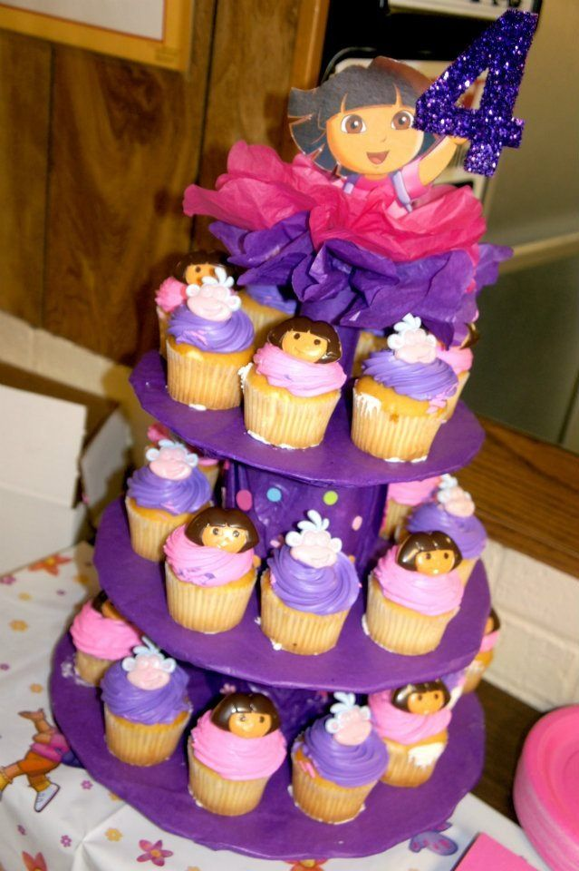 Dora Cupcake Stand Pinterest Inspired My Stuff
