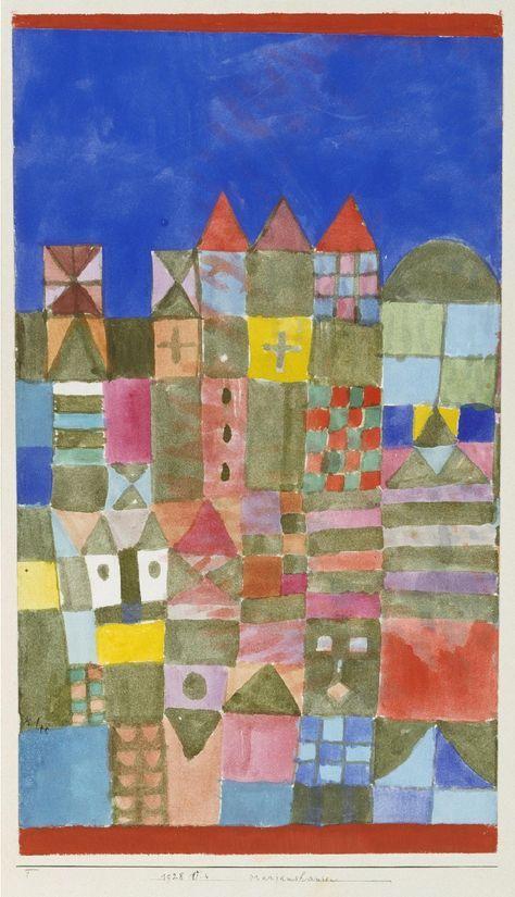 Paul Klee, Marjamshausen, 1928 - watercolour / The Museum of Fine Arts, Houston