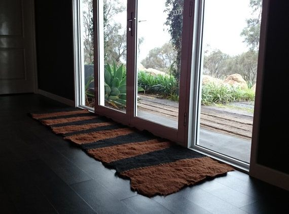 Floor Runner. Authentic Alpaca Felt Rug / Runner