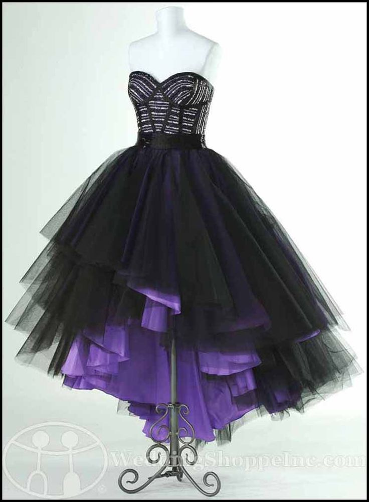 high low purple prom dresses gothic ike | Punk Rock Prom Dresses: Flirt Prom Dress P1607