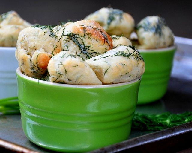 Savory Monkey Bread With Dill Butter - easy to make with store bought ...