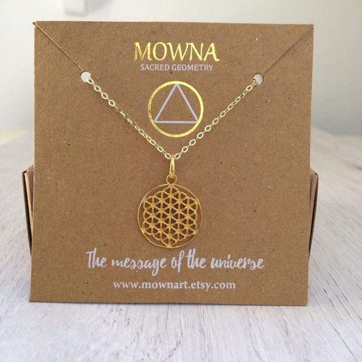 Flower of life  Silver, gold plated