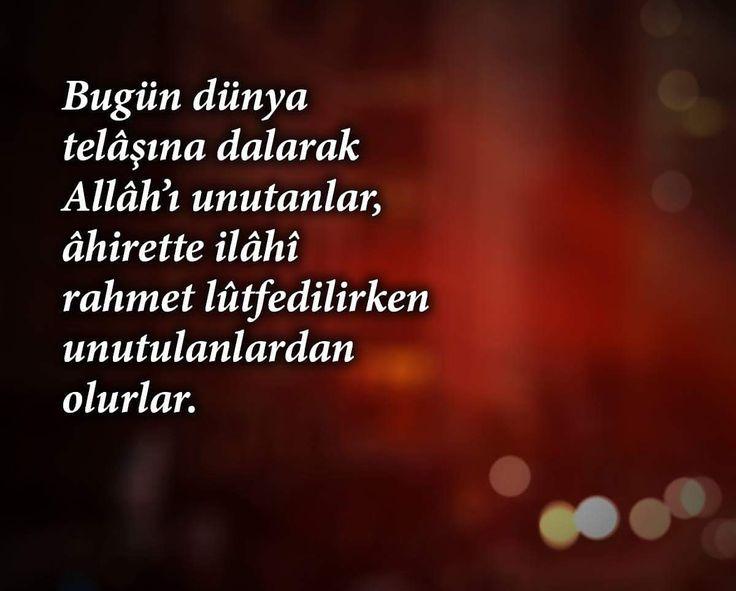 Bu dünya telâşına dalarak Allâh'ı unutanlar, âhirette ilâhî rahmet lûtfedilirken unutulanlardan olurlar.  #söz #osmannuritopbaş #osmannuritopbaşhoca #topbaşhoca #söz #ahiret #rahmet #telaş #sözler #dünya #hayırlıkandiller #ilmisuffa