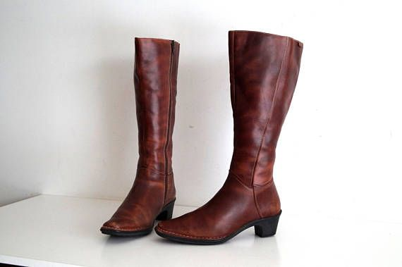PIKOLINOS Leder 5 Stiefel 38 Eu UK 5 Leder US 75 Braun genuine   VINTAGE 0733d5