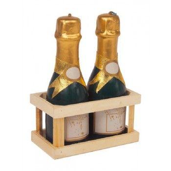 Lot de 2 bougies bouteille de champagne    #cadeau #cadeaux #ideecadeau #pascher #petitbudget #miniprix #anniversaire #fete #noel #party #birthday #gifts #gift
