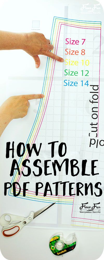 Learn the basics to Pattern Assembly for PDF Sewing Patterns. Learn the tips, tr…