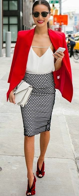 Luv to Look | Curating Fashion & Style: Women's fashion red corporate outfit