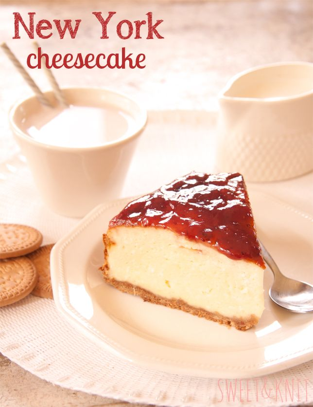 Sweet&Knit: Tarta de queso americana ó New York Cheesecake