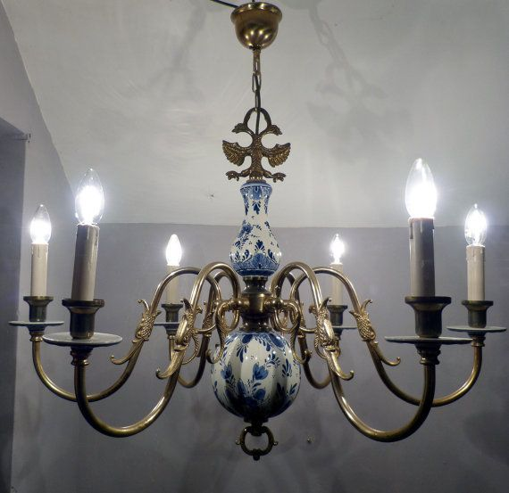 226 best lighting images on pinterest chandelier chandelier very large vintage dutch blue white delft by kittywilliamsltd mozeypictures Choice Image