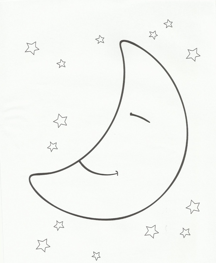 Moon and stars coloring page shrinky dinks pinterest for Moon and stars coloring pages