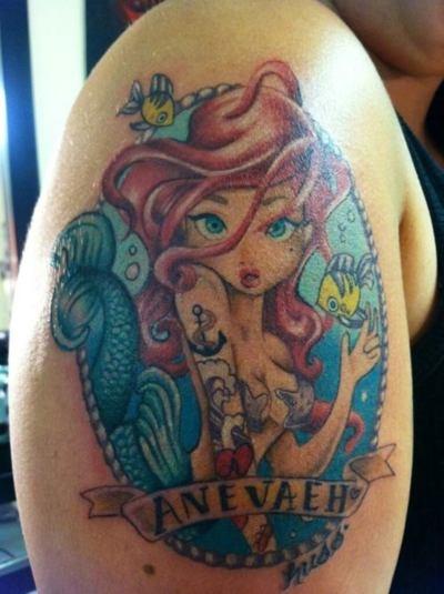 My youth....Bays Area, Awesome Tattoo, Mermaid Tattoo, Disney Tattoo, Tattoo Artists, The Bays, Ink Ink, Damn Tattoo, Awesome Art