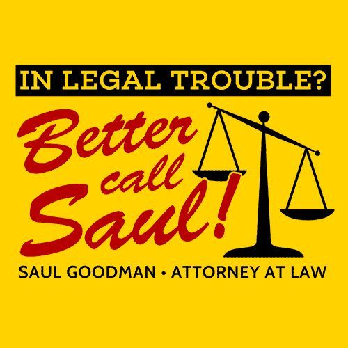 Better Call Saul T-Shirt Need a good lawyer? Well, you better call Saul! More Info Behind This Design Better Call Saul is an American television crime drama series. It is a spin-off prequel of Breakin