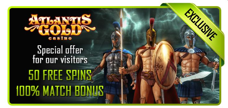 50 Free Spins on Rise of Spartans slot + 100% Match Bonus at Atlantis Gold Casino! http://bit.ly/1nszHfg