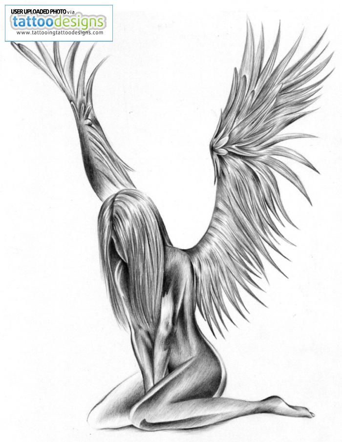 Angel. This to me is beautiful! Id love it on my side or on my leg Repin & Follow my pins for a FOLLOWBACK!