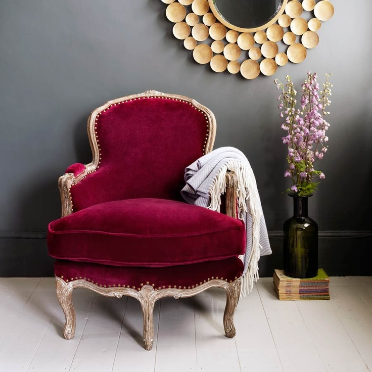 Raspberry Velvet Dietrich Chair By Graham And Green. Devi Says: THIS Is A  True Raspberry! This Color Makes Me So Happy.