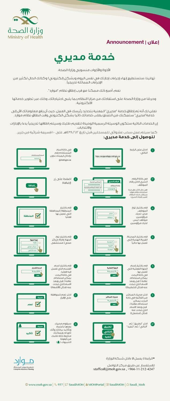 تطبيق مديري موارد للايفون التطبيق الرسمي لوزارة الصحة السعودية وهو النظام الرسمي المستخدم في المملكة العربية السعودية لتقدي Announcement Bullet Journal Health