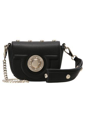 Versace Jeans ROUND BUTTON SMALL CROSS BODY - bag - nero  1cb04bc12a8a3