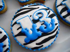 .Oh Sugar Events: Blue Zebra Cookies