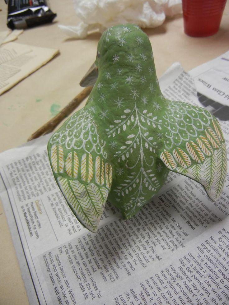 Image detail for -sukey2studio: Vintage Paper Mache Birds