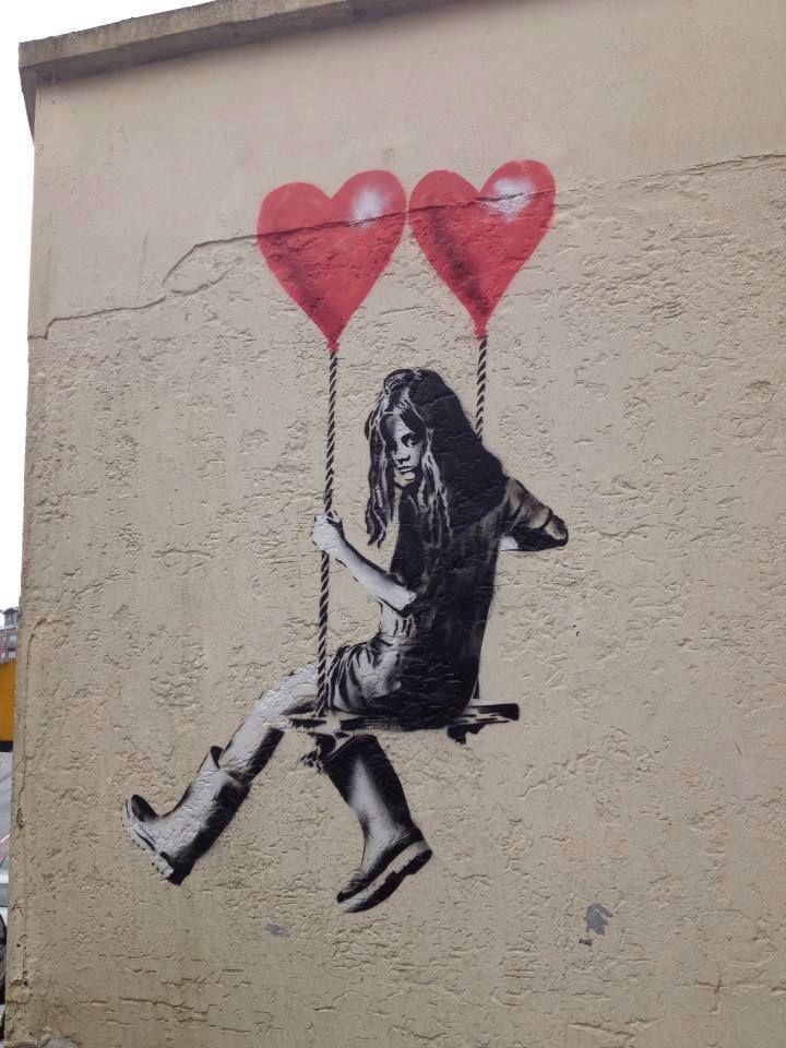 Image result for love happens hearts graffiti