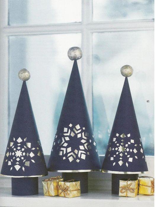 Рождественские украшения из бумаги,картона,фольги,блесток,бусин.... Обсуждение на LiveInternet - Российский Сервис Онлайн-Дневников