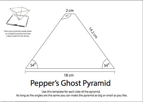 Hologram Pyramid Template Google Search Diy Ortments Science Crafts Projection