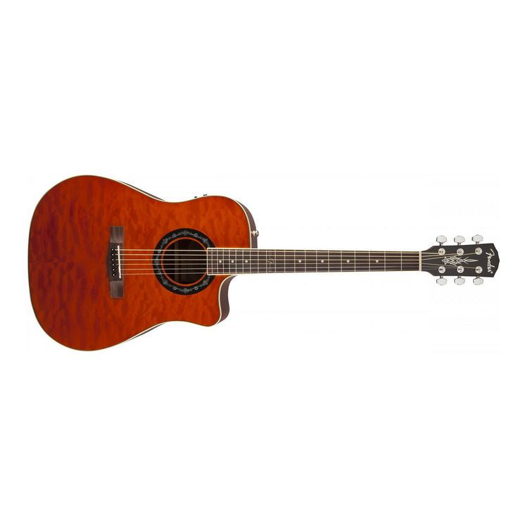 Fender T-Bucket 300CE Acoustic Electric Guitar in Amber
