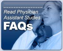 Read Physician Assistant Studies FAQ