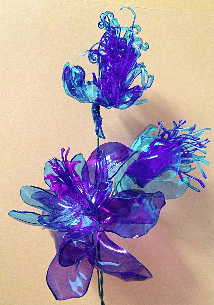 Plastic Flower Bottle Flowers
