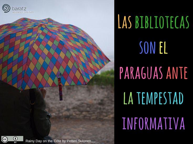 Las bibliotecas son el paraguas ante la tempestad informativa