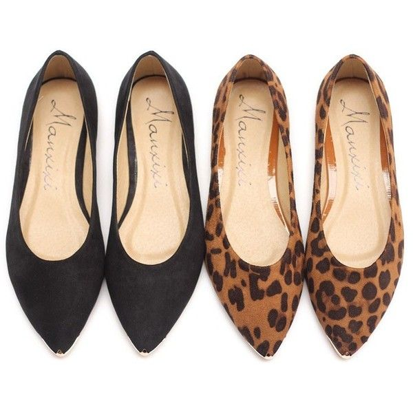 LUCLUC Suede Leopard Flat Shoes (92 ILS) ❤ liked on Polyvore featuring shoes, flats, lucluc, flat pumps, wide width flats, wide fit shoes, flat pump shoes and wide shoes