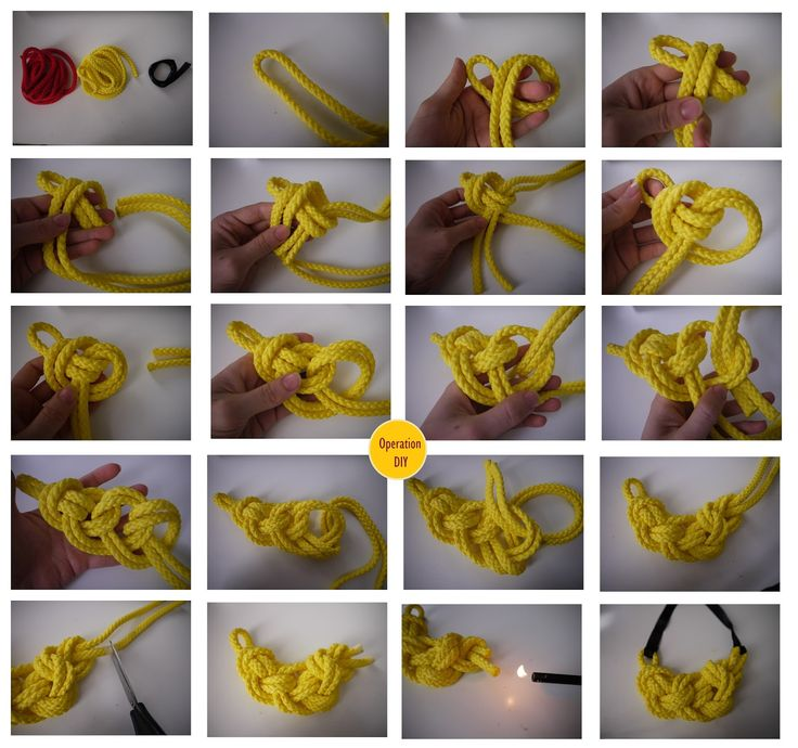 DIY Knotted Necklace - trying this tonight!