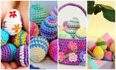 Huevos de Pascua a crochet: Vídeo tutorial   Manualidades