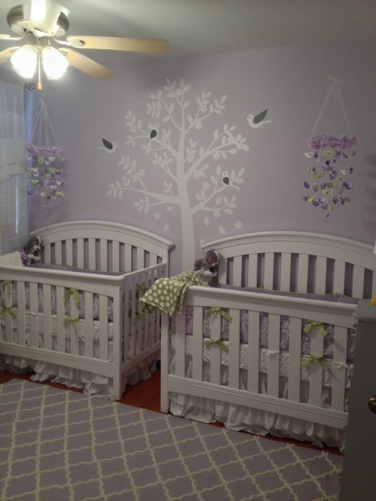 Twin Girl Nursery Sadie Scarlet Pinterest Crib