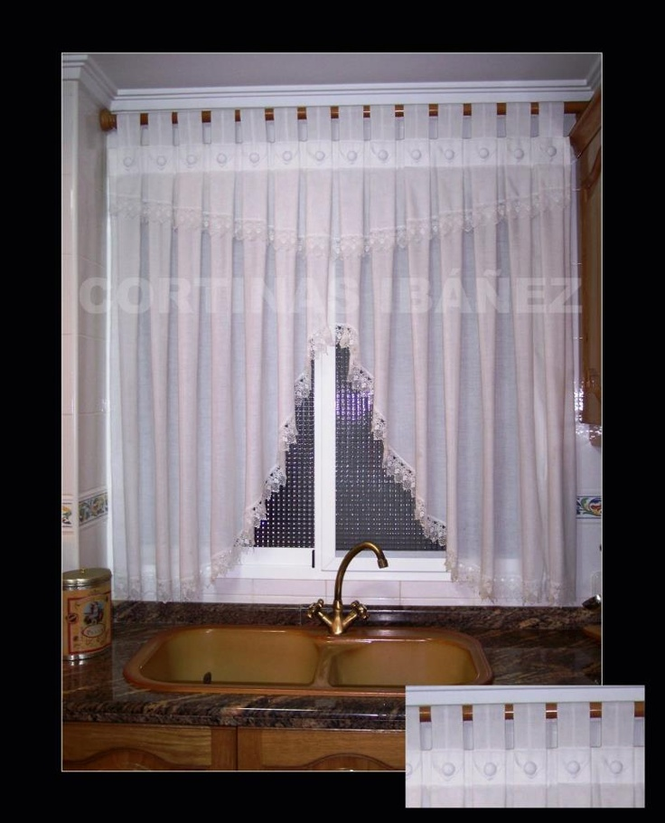92 best images about cortinas on pinterest pique un and 2 - Alzapanos para cortinas ...