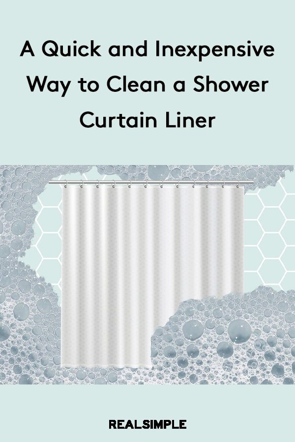 I Just Discovered The 3 Secret To Cleaning A Grimy Shower Curtain