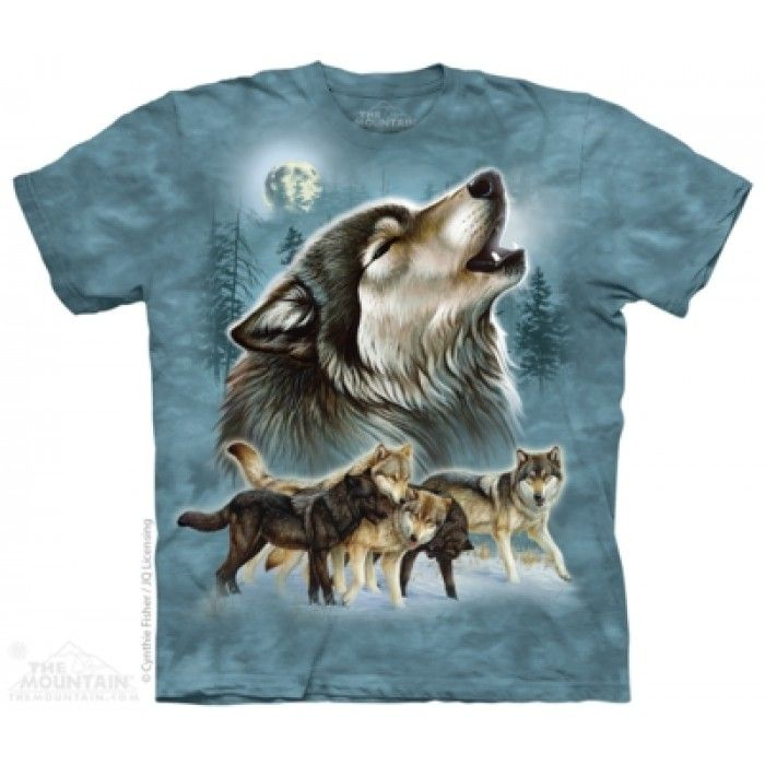 Tricouri The Mountain – Tricou Old School Wolf Collage