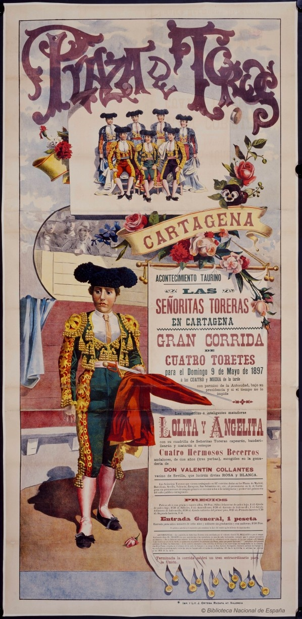 Excellent and Beautiful Old Bullfight Posters - Retronaut. Señoritas toreras 1897