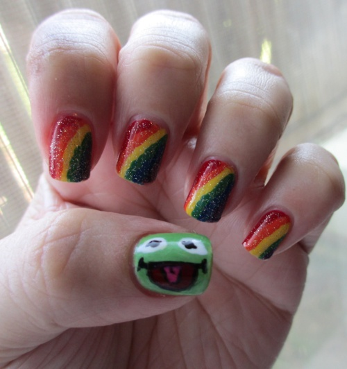Frog Nail Art: 73 Best Images About Frosch-Nails On Pinterest